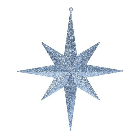 "Vickerman 418239 - 15.75"" Sea Blue Glitter Bethlehem Star Christmas Tree Ornament (M167522)"