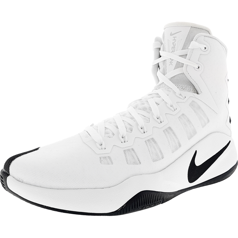 wholesale dealer 5c201 a7fa9 sweden nike mens hyperdunk 2016 tb white black metallic silver high top  basketball shoe 12.5m