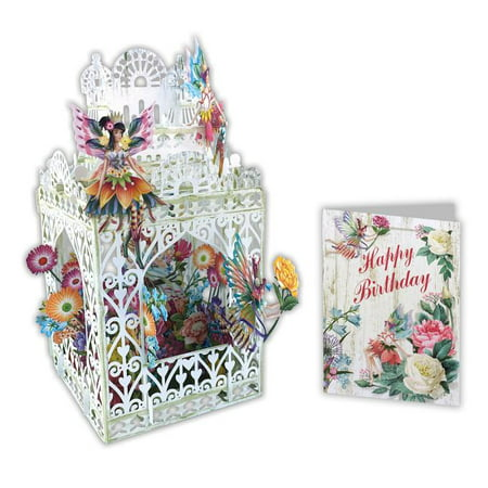 Paper d'Art Fairy Happy Birthday 3D Pop Up Greeting Card (Other) Happy Birthday Car