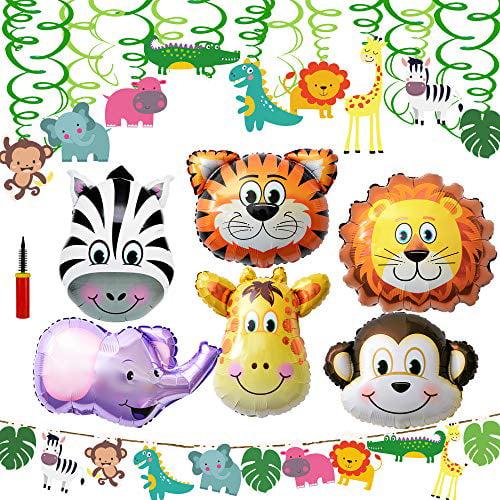 Supla Vbs Safari Jungle Animals Hanging Decorations Green Safari Party Forest Animal Theme Supplies For Baby Shower Kids 1st Walmart Com Walmart Com