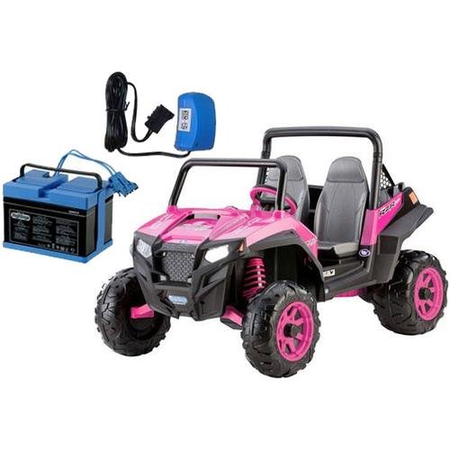 Peg Perego IGOD0073K Polaris RZR 900 Pink With 12 Volt Battery And Charger by Peg Perego