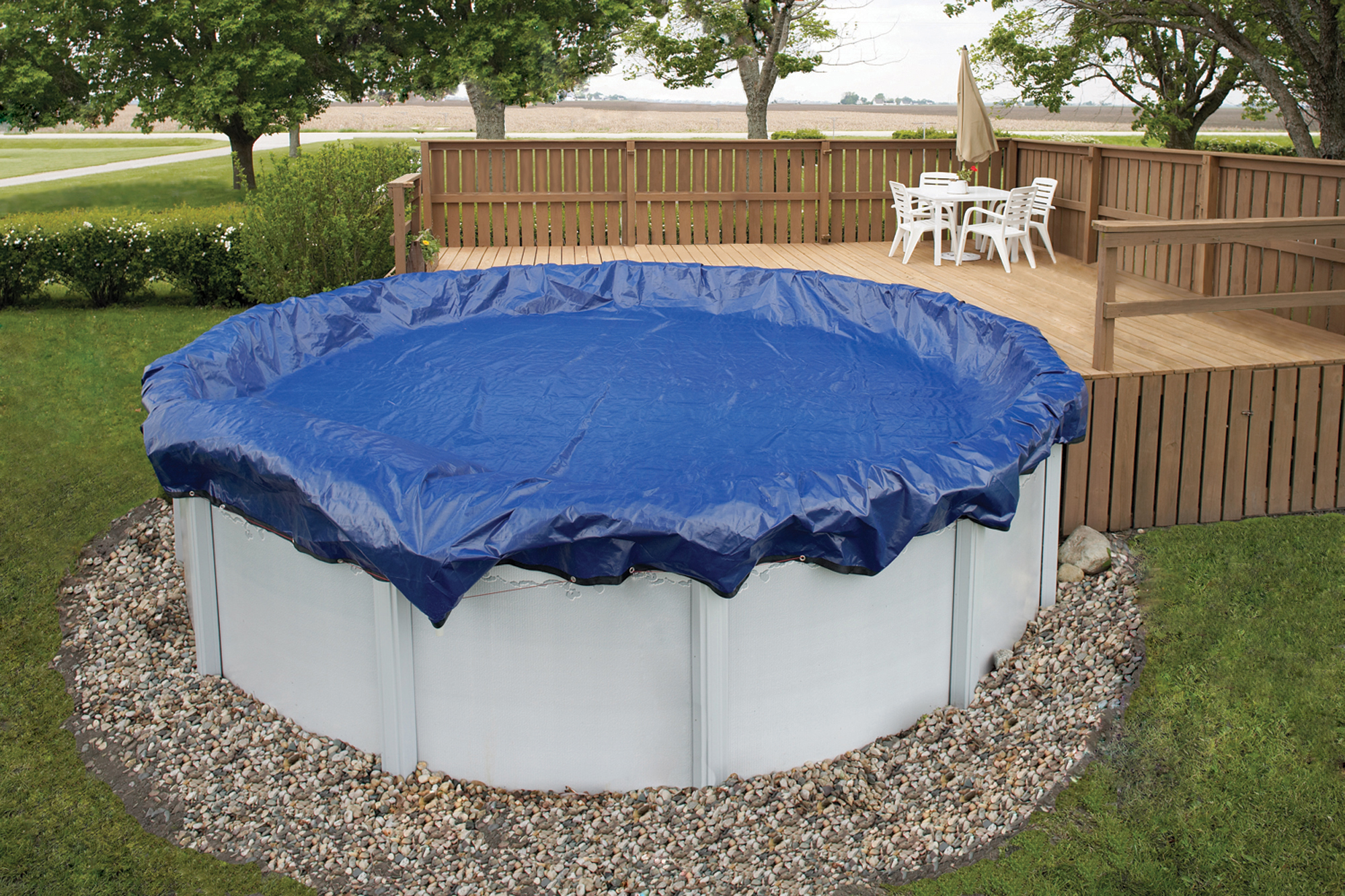 Blue Wave Gold 15-Year 18-ft Round Above Ground Pool Winter Cover by Blue Wave