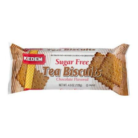 Kedem Sugar Free Tea Biscuits Chocolate Flavor - 4.5 Oz - Pack of 6