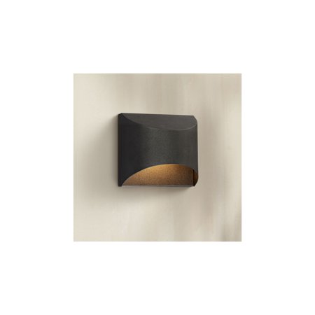 Possini Euro Design Modern Outdoor Wall Light Fixture LED Textured Black Dark Sky 5 1/2