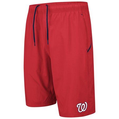 Washington Nationals Majestic Big & Tall No Stopping Shorts - Red/Navy