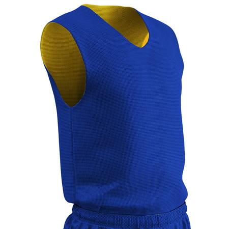 Basketball Clothing (Champro Youth Reversible Basketball Jersey - Royal/Gold -)