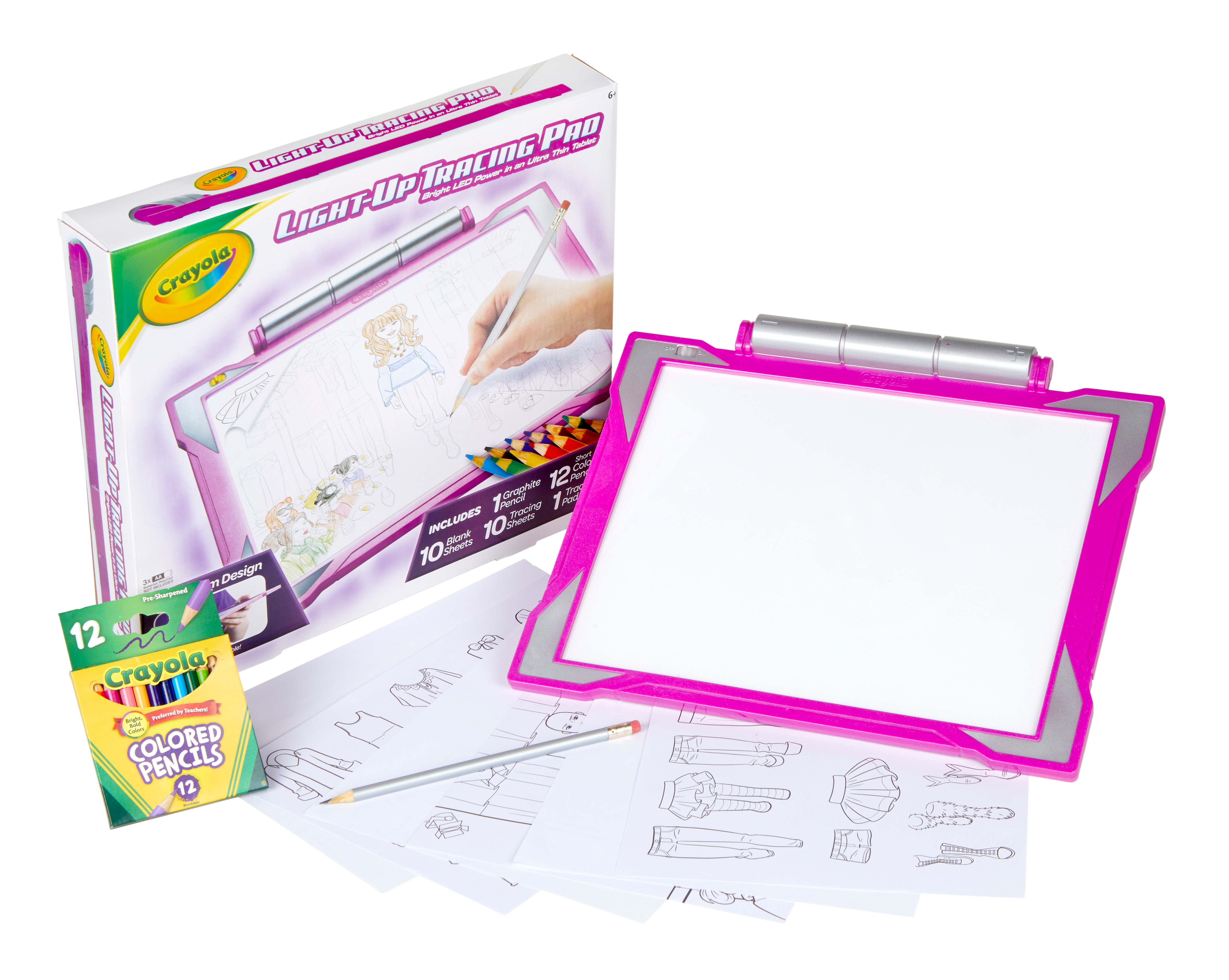 Crayola Light Up Tracing Pad Pink Gift Gift For Girls Walmart Com Walmart Com