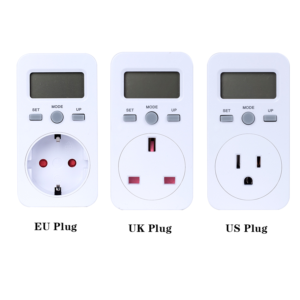 Roeam US Plug Plug-in Digital LCD Energy Monitor Power Meter Electricity Electric Usage Monitoring Socket