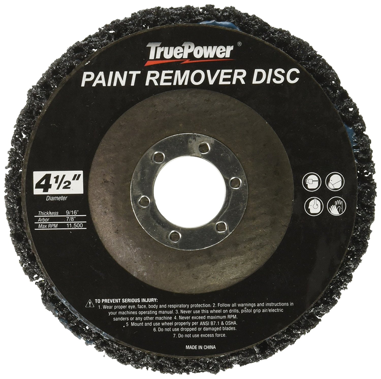 """10 pack 4-1 2"""" x 7 8"""" Replacement Disc for Paint & Rust Remover, Stripper by TruePower"""