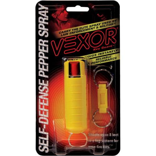 VEXOR Hard Case Pepper Spray, 1/2 oz, Yellow