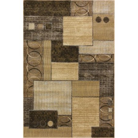 (Central Oriental 9204CG46.060 Providence Terrain 060 Decker 100 Percent Heat Set Polypropylene Rug, Cocoa & Gold - 3 ft. 3 in. x 5 ft. 3 in.)