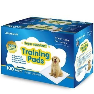 All-absorb Training Pads 100-count, 22-inch By 23-inch, N...