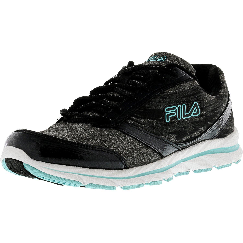 Fila Women's Memory Tempera Black   Castlerock Aruba Blue Ankle-High Running Shoe 10M by Fila