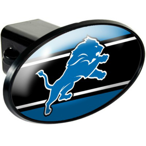 """""""Great American Products Detroit Lions Oval Trailer Hitch Cover Oval Trailer Hitch Cover"""" by Great American Products"""