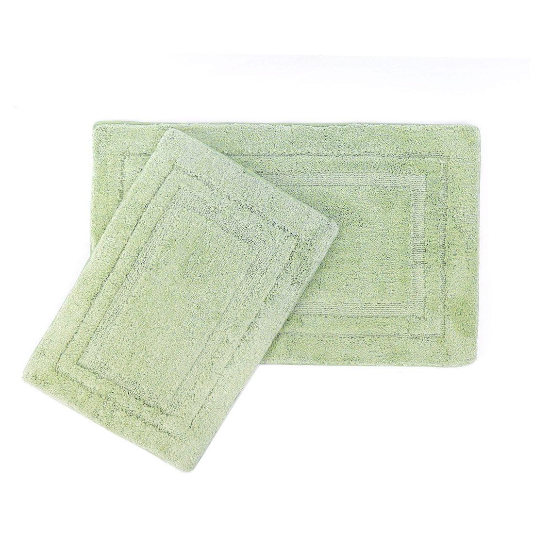 Dark Green Leaves Door Mat Bathroom Rug Bedroom Carpet Bath Mats Rug Non-Slip