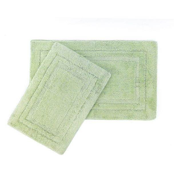 Piccocasa 2 Piece Non Slip Bath Rug Set For Bathroom 24 X 16 31 X 20 Green Walmart Com Walmart Com