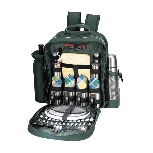 Sutherland Baskets Merrymaker Picnic Backpack in Green
