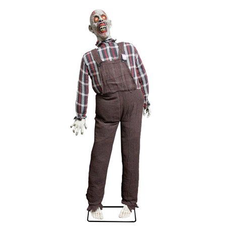Halloween Life Size Farmer Zombie Animated Rocking Moving Torso Prop Decoration for $<!---->