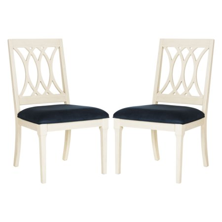 "Safavieh Selena 19"" High Velvet Side Chair, Set of 2, Multiple Colors"