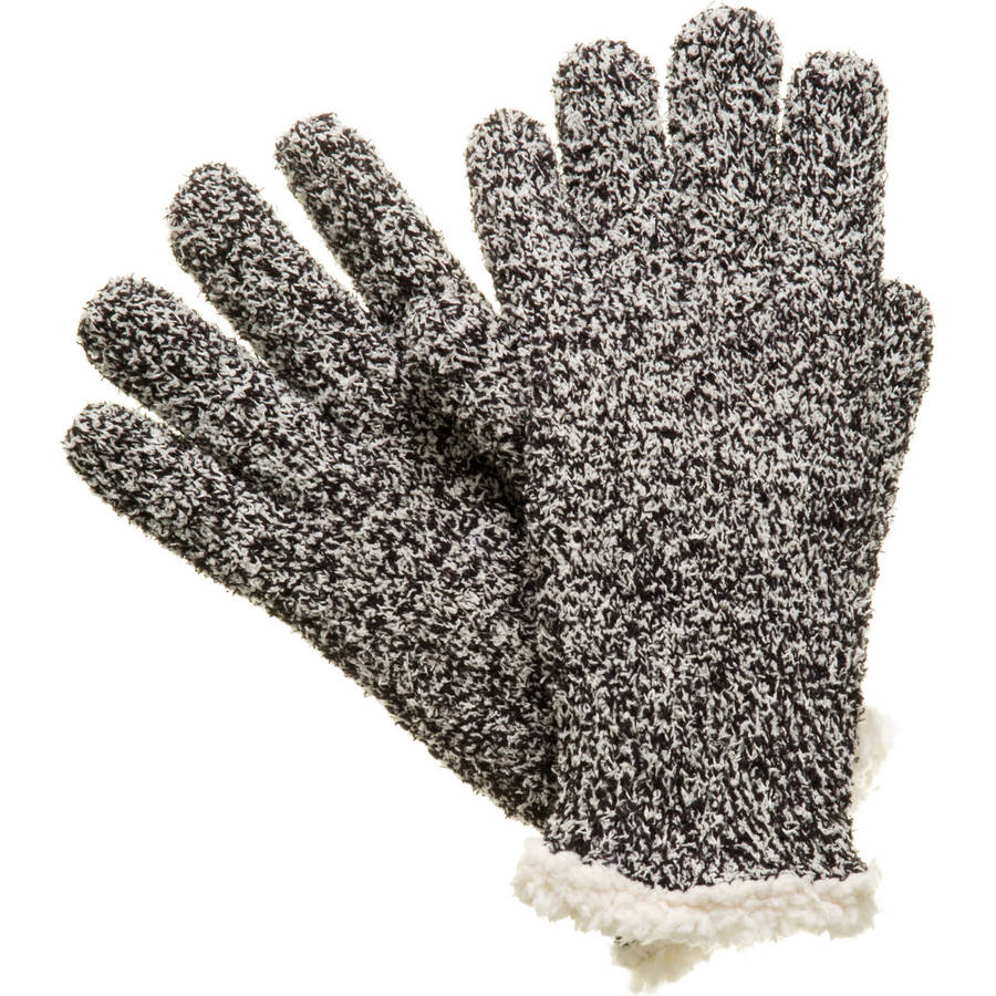 Essentials by Isotoner Women's Marled Knit Glove w/Sherpasoft Lining