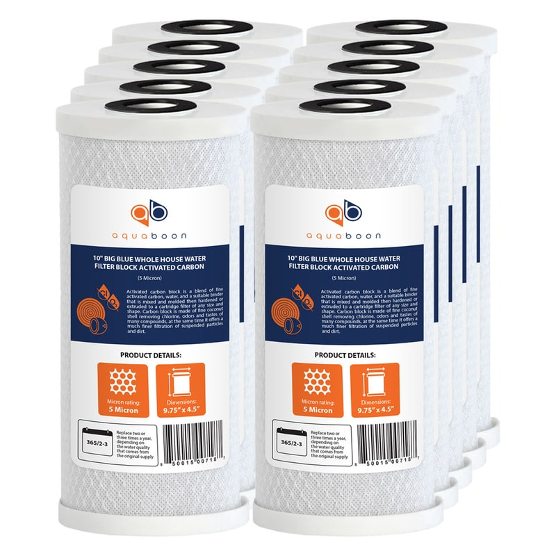 "10PK of Big Blue 5µm Coconut Shell Carbon Block Water Filter Cartridge 10""x4.5"""