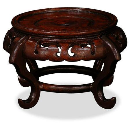 China Furniture and Arts Chinese Round Wooden Display Stand, 4 inch diameter