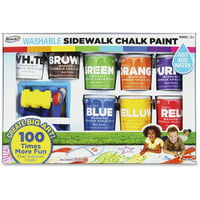 RoseArt, RAICXX66, Washable Sidewalk Chalk Paint Set, 8 / Pack