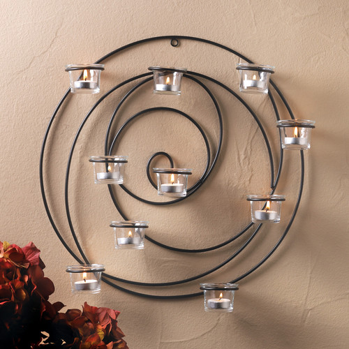 Zingz & Thingz Iron and Glass Sconce by Zingz & Thingz