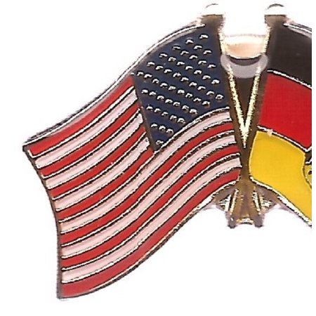 PACK of 3 Germany Eagle & US Crossed Double Flag Lapel Pins, German Eagle & American Friendship Pin - Germany Lapel Pin