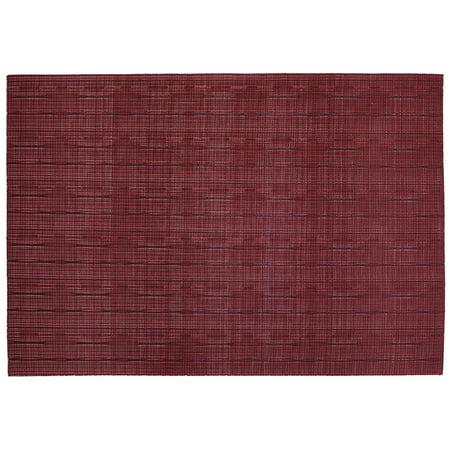 Ritz Textilene Grass Cloth Placemat Red ()