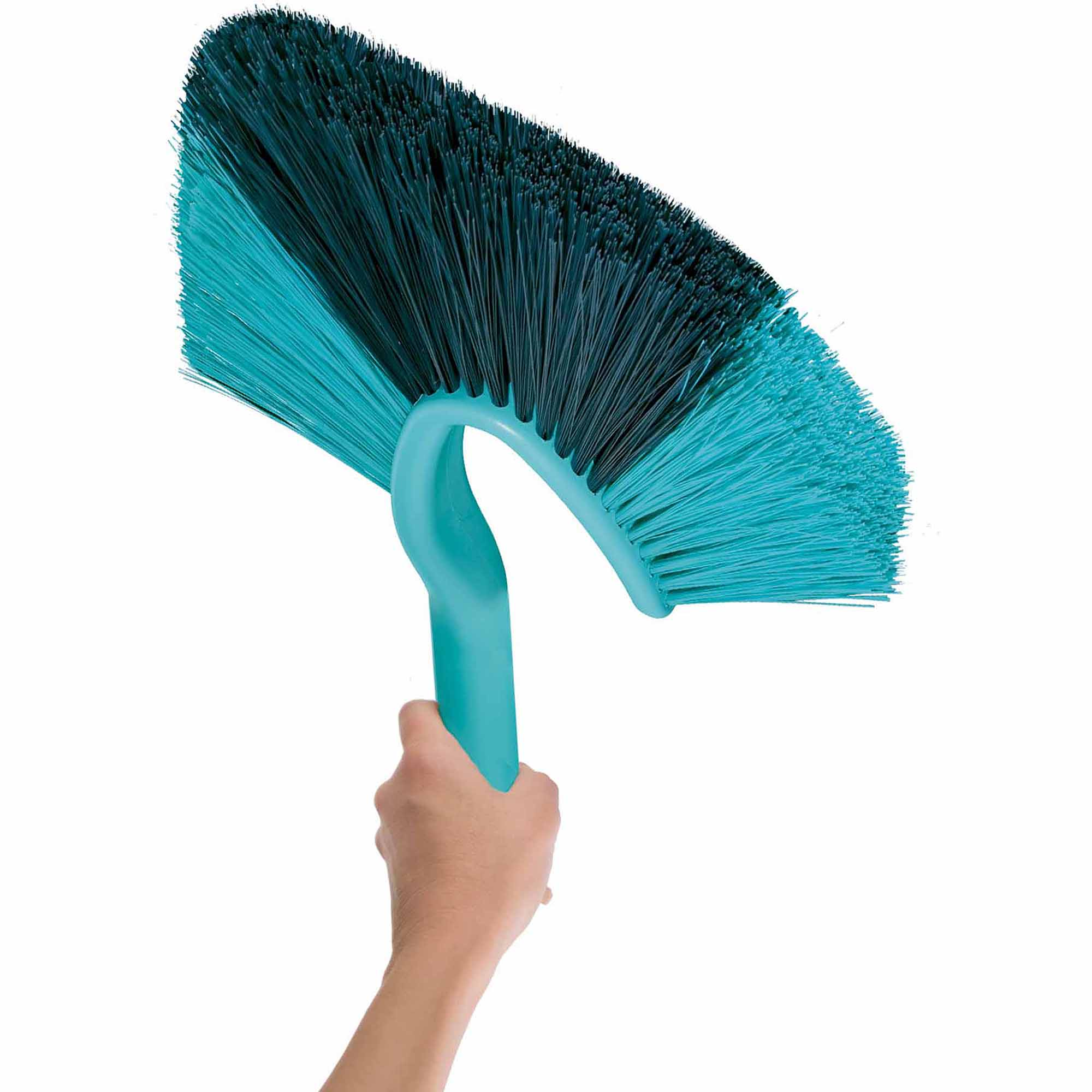 Leifheit Click System Stiff-Bristled High Duster for Corners, Turquoise