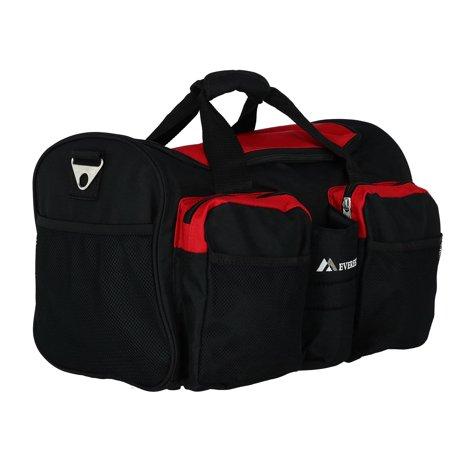 Everest S223-RD 18 in. 600 Denier Polyester Sports Duffel Bag with Wet Pocket - image 2 de 6
