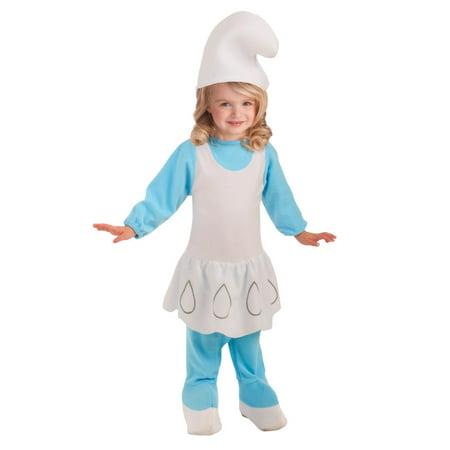The Smurfs Toddler Girls Blue Smurfette Costume With Smurf Hat 2T-4T - Smurfette Costume Ideas