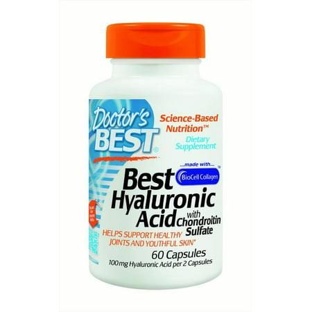 Doctor's Best acide hyaluronique avec du soufre chondroïtine, 60 Ct