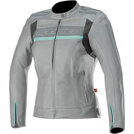- Alpinestars Stella Dyno v2 Leather Street Motorcycle Jacket (42 EU, Cool Gray Aqua) Gray | Aqua