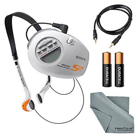 Sony SRF-M85W S2 Sports Walkman Armband Radio Bundle with 2 AAA Batteries,