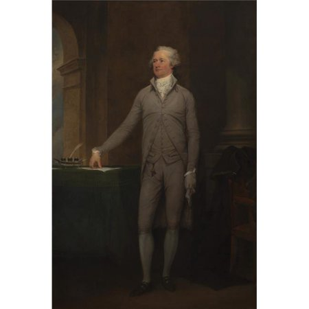 Vintage American History Painting of Alexander Hamilton. Original by John Trumbull Oil On Canvas 1792 Poster Print, 22 x 34 - Large ()