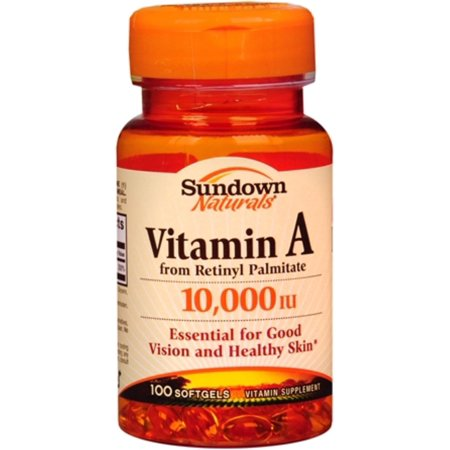 2 Pack - Sundown vitamine A 10 000 UI Softgels 100 Gels mous