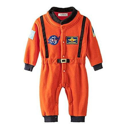 Astronaut Jumpsuit (StylesILove Baby Toddler Boy Orange Astronaut Fleece Costume Jumpsuit (18-24)