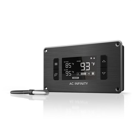 Av Cabinet Cooling - AC Infinity CONTROLLER 2, Fan Thermostat and Speed Controller, controls USB fans and devices, for Home Theater AV Media Cabinet Cooling