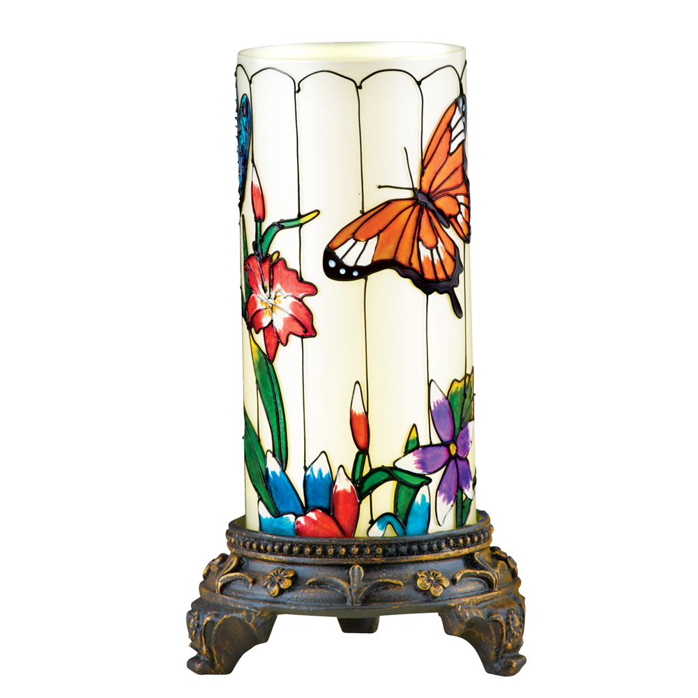 Merveilleux Spring Glass Table Lamp Decoration With Remote Control, Butterfly