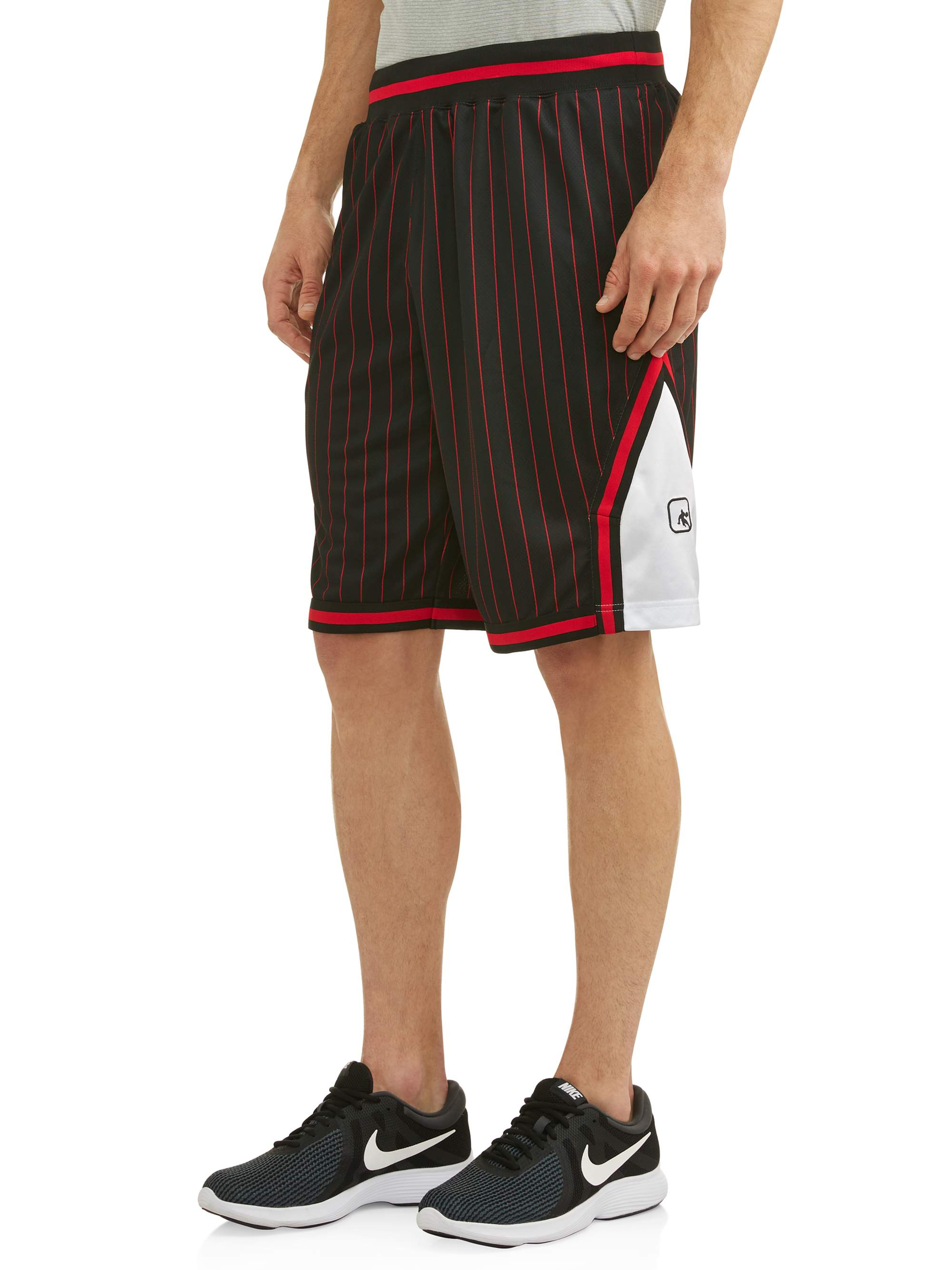 AND1 Men's Striped Mesh Basketball Shorts