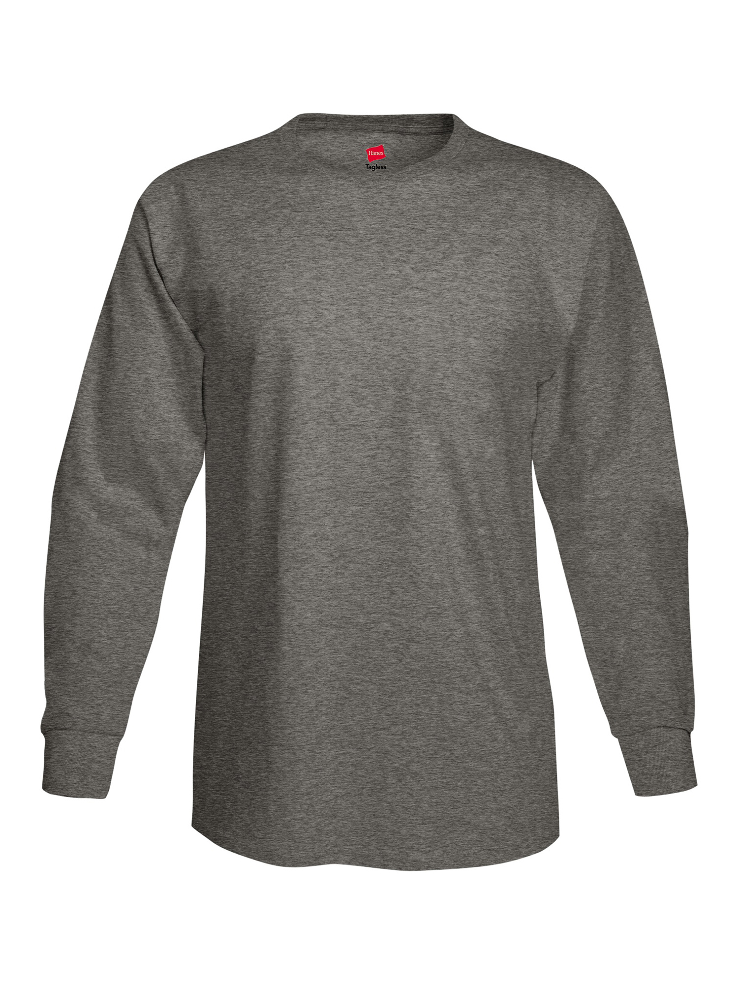 8ce409517ccee Hanes - Mens Tagless Cotton Crew Neck Long-Sleeve Tshirt - Walmart.com