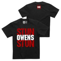 """Official WWE Authentic Kevin Owens """"Stun Owens Stun"""" Youth  T-Shirt Black Small"""