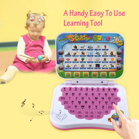 Educational Laptop,Baby Kids Children Bilingual Educational Learning Study Toy Laptop Computer Game for Kids Toddler Electronic Learning Toy - Toddler Educational Games
