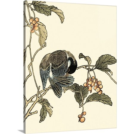 Great BIG Canvas | Vision Studio Premium Thick-Wrap Canvas entitled Oriental Bird on Branch IV