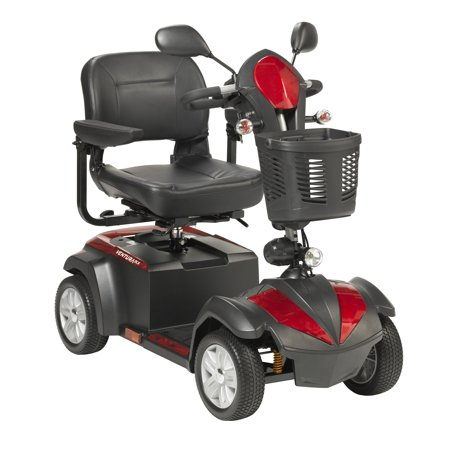 "Drive Medical Ventura Power Mobility Scooter, 4 Wheel, 18"" Folding Seat"