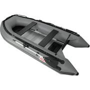 ALEKO Inflatable Boat - Aluminum Floor - 10.5 Feet - Grey