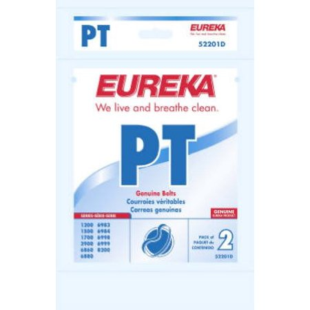 1500 Cubic Inch Pack (52201C Eureka Vacuum Cleaner Replacement Belt (2 Pack), Fits Eureka Vacuum cleaners 1200, 1500, 1700, 3900, 6880, 6885, 6993, 6997, 6998, 6999 and 8200.., By)