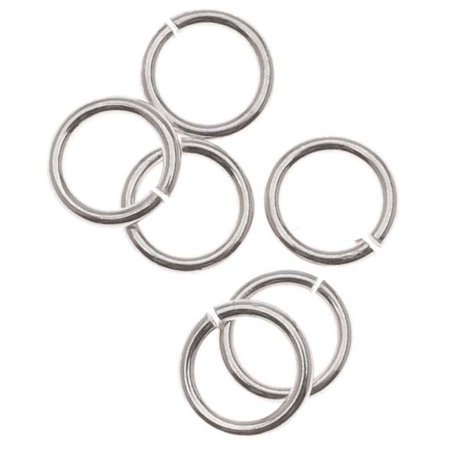 Sterling Silver Open Jump Rings 5mm 21 Gauge (10) ()